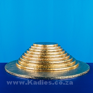 "CAKE BOARDS THICK 6""-16"" GOLD ROUND EACH"