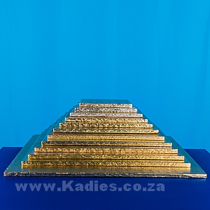 "CAKE BOARDS THICK 6""-16"" GOLD SQUARE EACH"