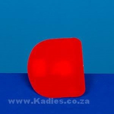 Plastic Red Scraper Round edges 110mm