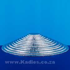 """Masonite Cake Boards Silver Rounds 3"""" to 16"""" (7.5cm to 40cm) each"""