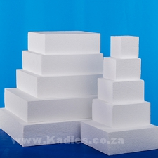 "CAKE DUMMIES 7.5CM DEEP 3"" TO 16"" SQUARE"