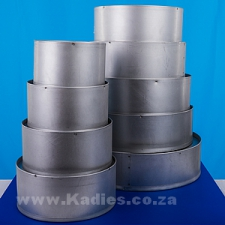 "WEDDING CAKE TIN 10CM DEEP 6"" TO 16"" DIAMETER ROUND"